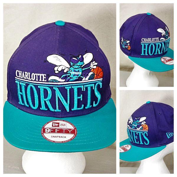 New Era 9Fifty Charlotte Hornets Basketball Club Retro NBA Graphic Snap Back Hat