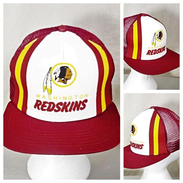 Vintage 80's New Era Washington Redskins Football Club Retro NFL Snap Back Trucker Hat