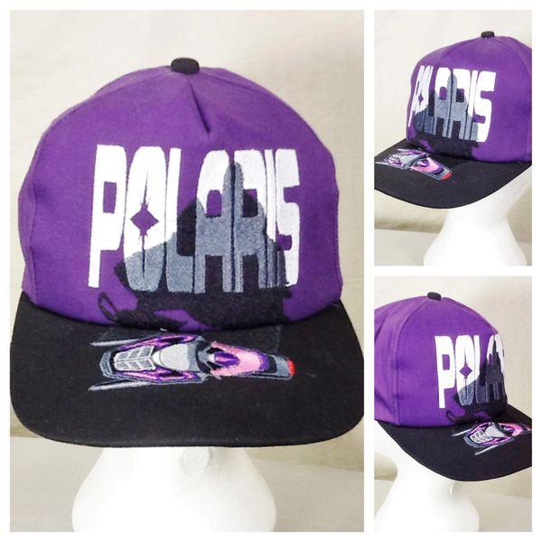 Vintage 90's Polaris Snowmobiles Retro Gear Headz Embroidered Snap Back Hat
