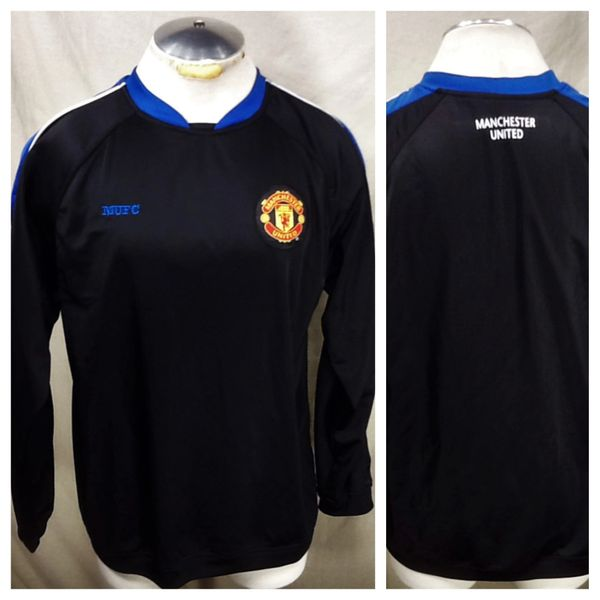 Manchester United Futbol Club (Large) Retro Pullover Long Sleeve Dri-Fit Soccer Jersey