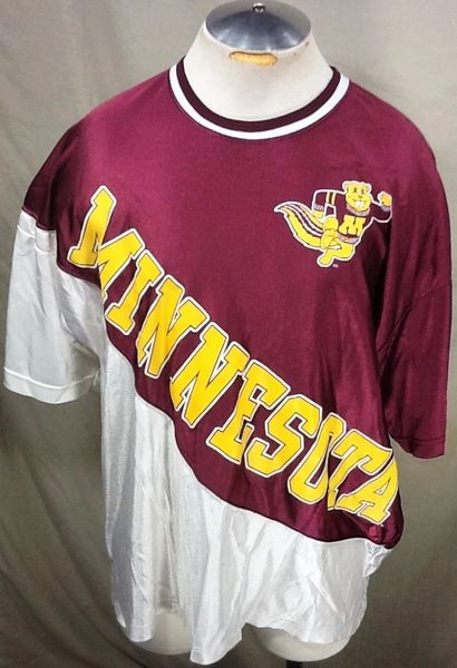 Vintage 90's Minnesota Gophers Basketball (XL) Retro NCAA Pullover Warm Up Shooting Jersey
