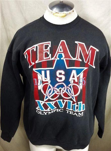 Vintage 1996 USA Olympic XXVIth Team (XL-Wide) Retro Olympic Games Graphic Crew Neck Sweatshirt