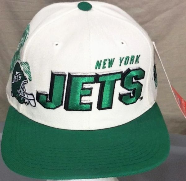 New! Vintage 90's Pro Line New York Jets Retro NFL Football Embroidered Snap Back Hat