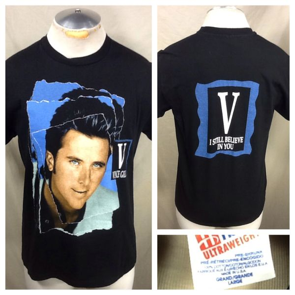 """Vintage 90's Vince Gill """"I Still Believe"""" (Large) Retro Country Music Icon Concert Tour T-Shirt"""