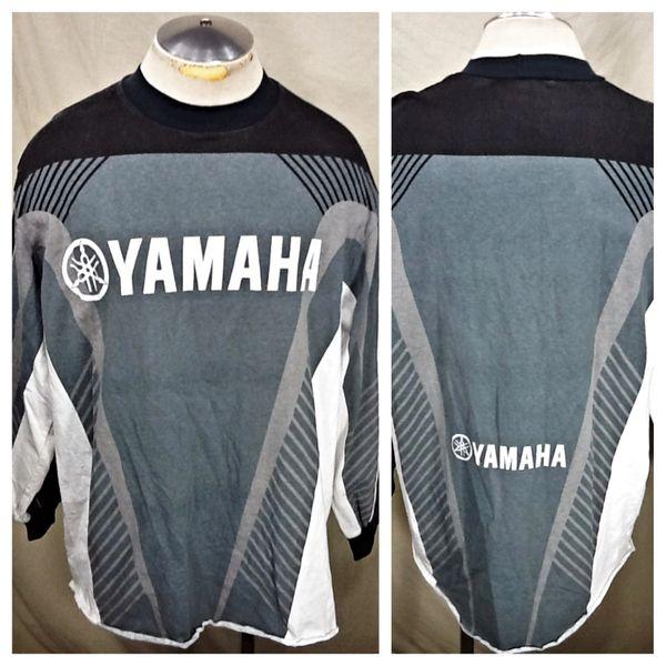 Vintage Yamaha Racing Padded Elbow (XL) Retro Long Sleeve Graphic Jersey Shirt