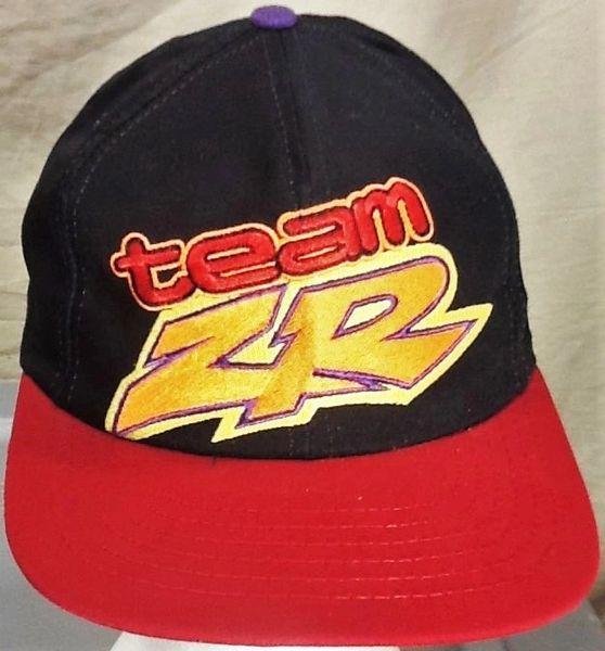 Vintage 90's Team Arctic Cat Snowmobiles ZR Racing Retro Gear Headz Embroidered Snap Back Hat Black