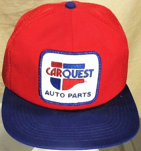 Vintage K-Products Car Quest Auto Parts Gear Heads Retro Snap Back Trucker Hat