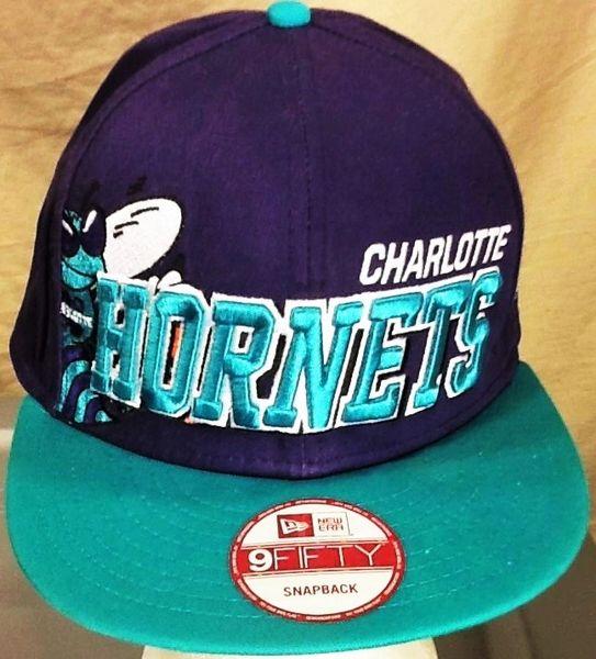 New Era 9Fifty Charlotte Hornets Retro NBA Basketball Club Graphic Snap Back Hat