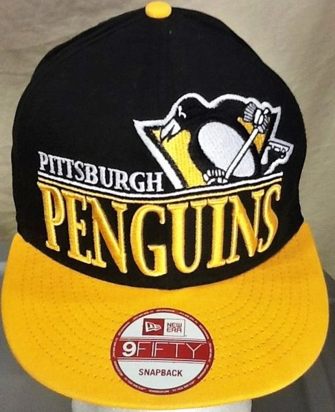 New Era 9Fifty Pittsburgh Penguins Hockey Club Retro NHL Graphic Snap Back Hat