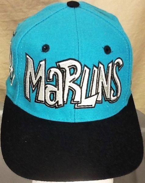 Vintage 90's Florida Marlins Baseball Club Retro MLB Embroidered Snap Back Hat