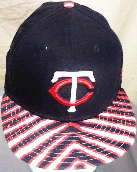Retro New Era Minnesota Twins Baseball Club Retro Zubaz Style MLB Snap Back Hat