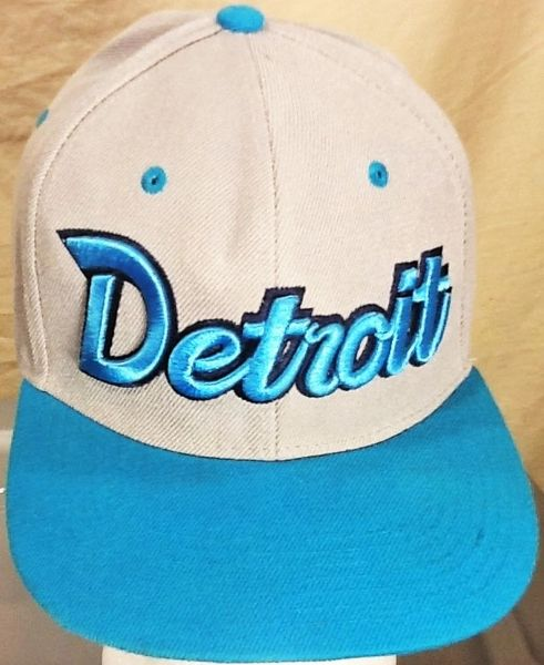 Retro Detroit Lions Football Club Retro NFL Embroidered Snap Back Hat Grey/Hawaii Blue