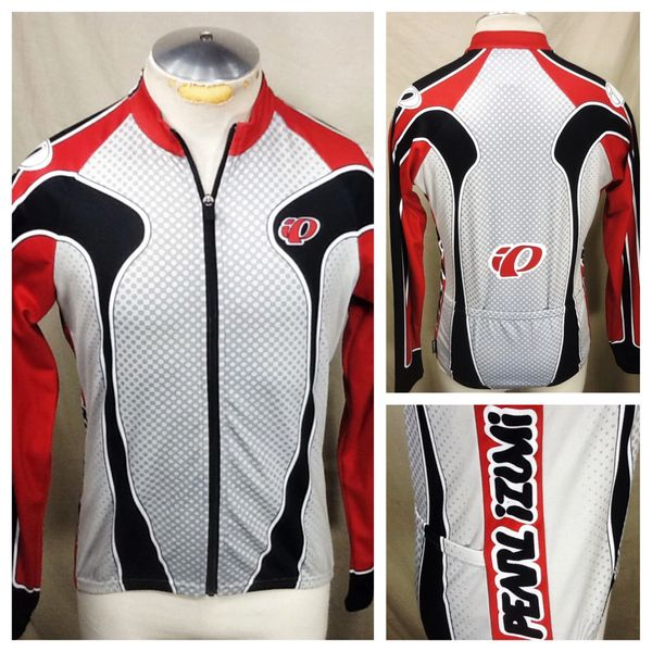 Pearl Izumi Active Wear Cycling Team (Med) Retro Full Zip Up Long Sleeve Graphic Cycling Jersey