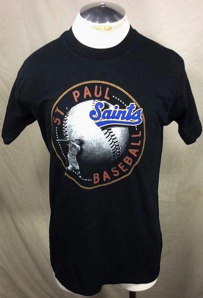 Vintage 90's St. Paul Saints Baseball (Med/Large) Retro Independent League Graphic T-Shirt
