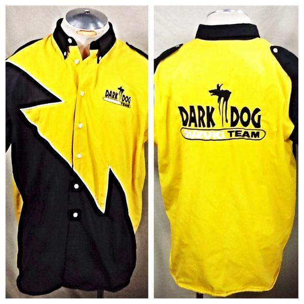"""Suzuki """"Dark Dog"""" Crew Team (XL) Button Up Embroidered Work Shirt"""