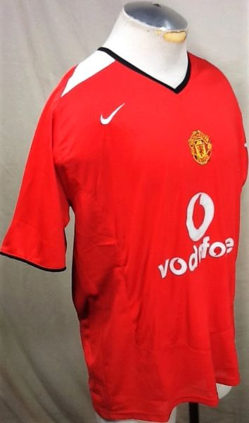 New!! 2005 Nike Manchester United (XL) Retro Vodafone Home Futbol Soccer Jersey