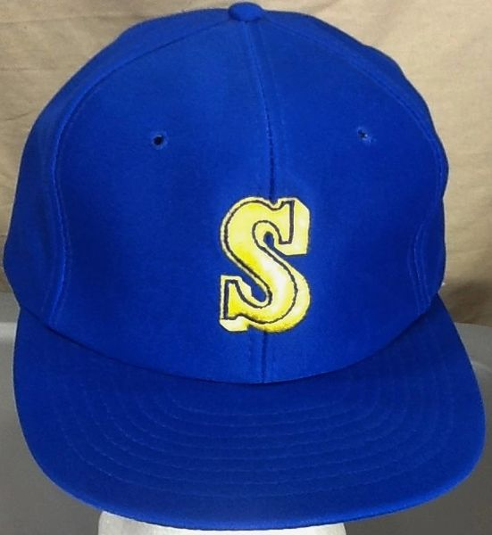 Vintage 80's Seattle Mariners MLB Baseball Classic Logo Embroidered Snap Back Hat