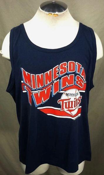 Vintage 1990 Minnesota Twins Baseball Club (L/XL-Short Length) Retro MLB Graphic Tank Top