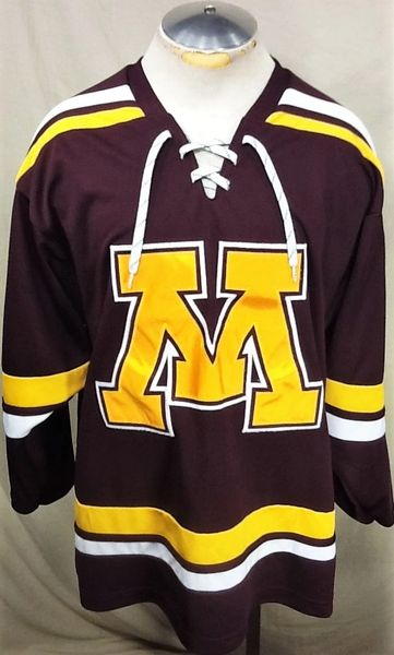 K1 Minnesota Golden Gophers Hockey (Large) Retro NCAA Pullover Graphic Jersey
