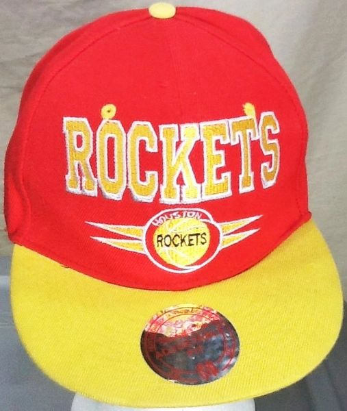 Mitchell & Ness Houston Rockets Basketball Club Retro NBA Embroidered Snap Back Hat