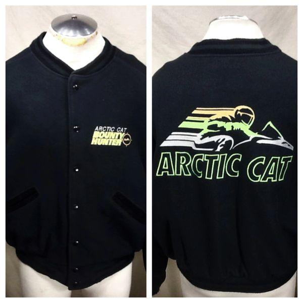 "Vintage Arctic Cat ""Bounty Hunter"" (Large) Snap Up Arctic Wear Retro Heavy Snowmobile Jacket"