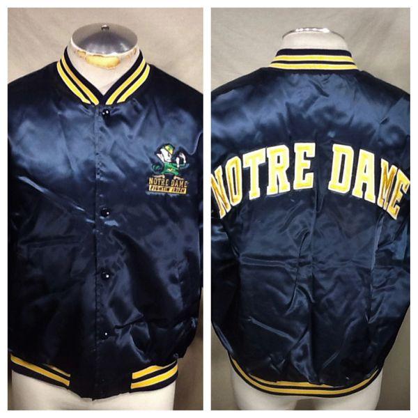 Vintage 90's Notre Dame Fighting Irish (Large) Retro Swingster NCAA Stitched Satin Jacket