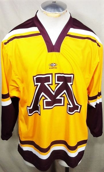 Easton Minnesota Golden Gophers Hockey (Large) Retro NCAA Long Sleeve Graphic Jersey