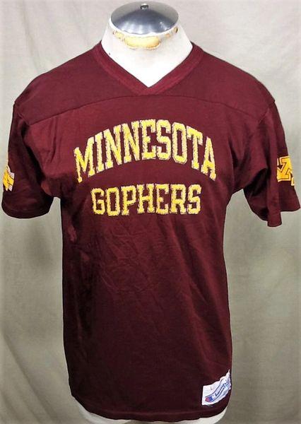 Vintage Champion Minnesota Gophers (Large) Retro NCAA Graphic Football Practice Jersey