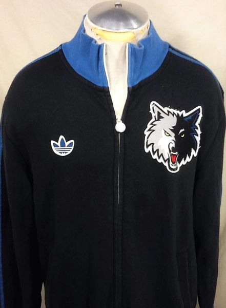 Adidas Minnesota Timberwolves Basketball Club (XL) Retro Wolves Zip Up Long Sleeve Sweatshirt
