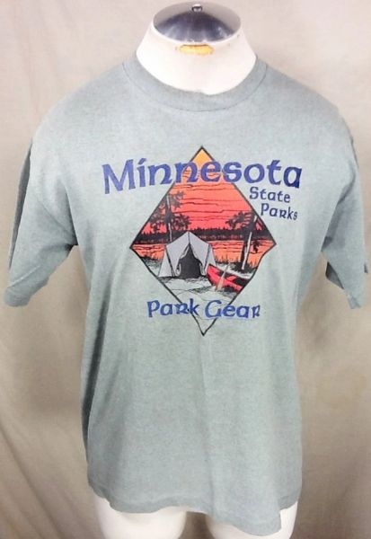 "Vintage 90's Minnesota State Parks (Large) Retro ""Park Gear"" Camping Graphic T-Shirt"