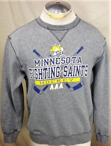 Vintage Minnesota Fighting Saints (Medium) AAA Hockey Club Crew Neck Sweatshirt