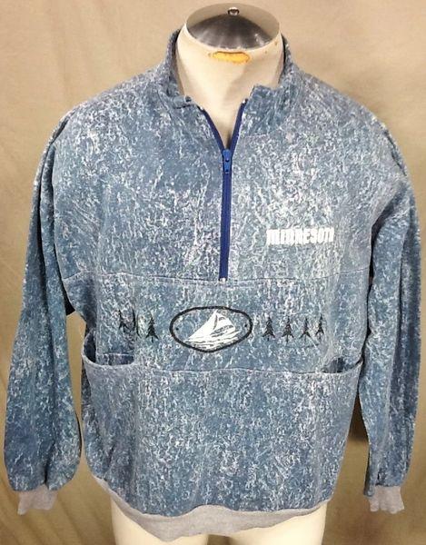 Minnesota Pullover Medium (Loose Fit) 1/2 Zip Up Long Sleeve Sweatshirt