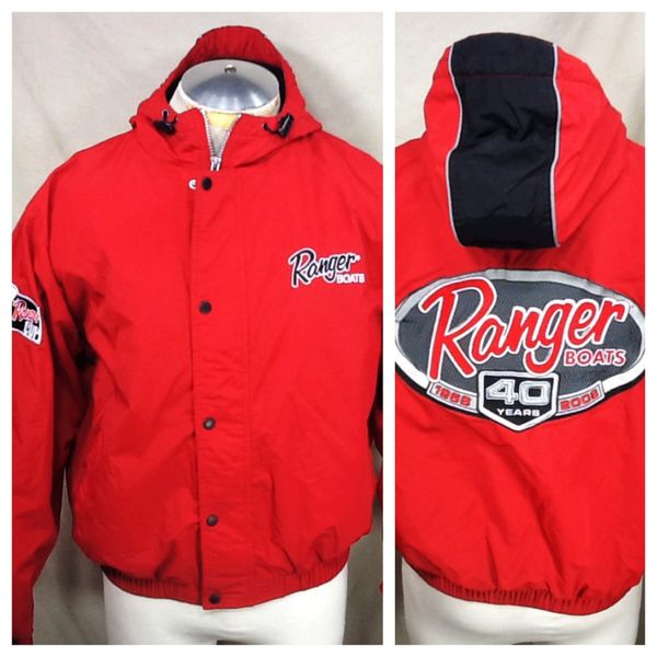 "2008 Ranger Fishing Boats ""40th Anniversary"" (Med) Retro Fishing Zip Up Hooded Jacket"