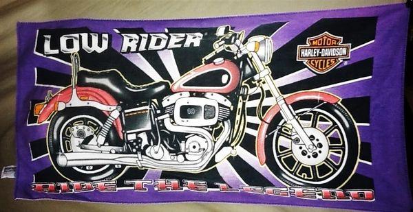 "Vintage Harley Davidson Motorcycles ""Ride The Legend"" Retro Graphic Beach Towel Wall Art"