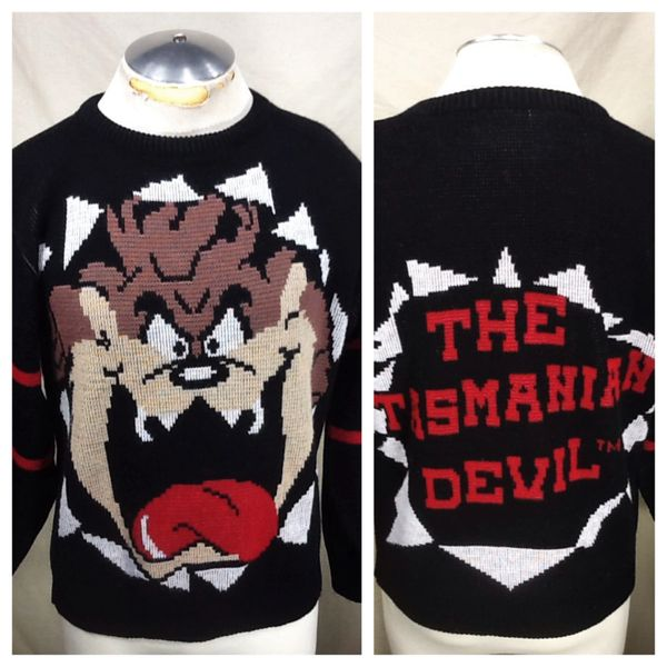 Warner Brother Tasmanian Devil (Large) Graphic Pullover Knit Sweater