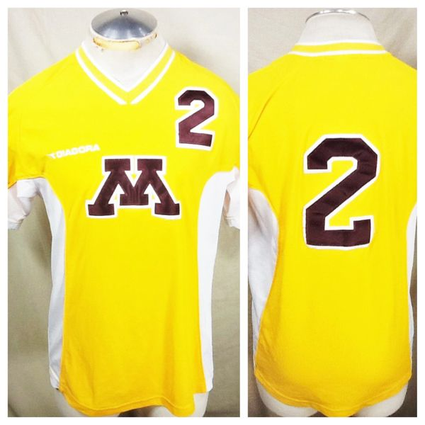Diadora Minnesota Gophers #2 Soccer (Med) Retro NCAA Stitched Yellow Soccer Jersey