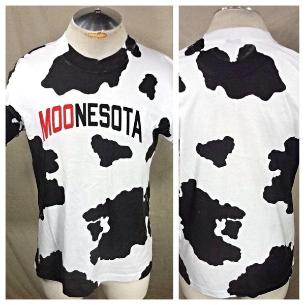 "Vintage 90's Minnesota ""Moonesota"" (Large) Retro Graphic Funny Farming T-Shirt"