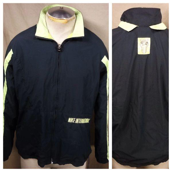 Vintage 90's Nike International (Large) Retro Zip Up Nylon Active Wear Windbreaker Jacket