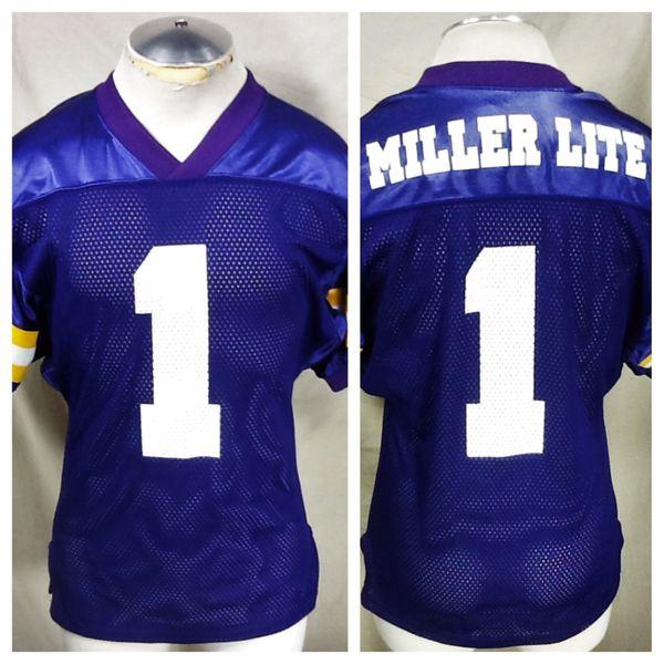 Athletic Knit Miller Lite Beer (Medium) Breweriana Nylon Football Jersey