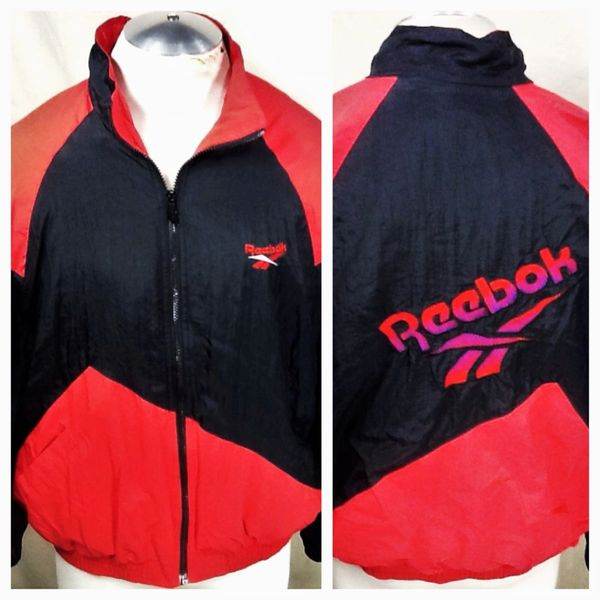 Vintage 90's Reebok Sport (Large) Retro Active Wear Hip-Hop Zip Up Windbreaker