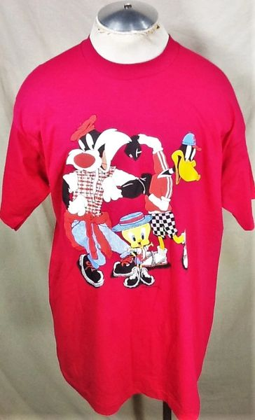Vintage 1994 Looney Tunes Classics (XL) Retro Tweety Daffy & Sylvester Graphic T-Shirt