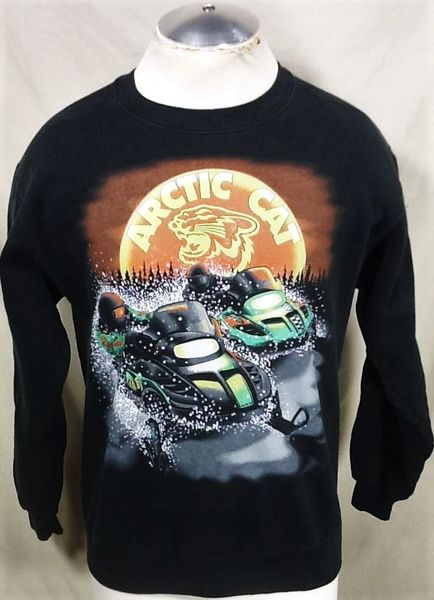 Vintage Arctic Cat Racing (Medium) Arctic Wear Pullover Sweatshirt