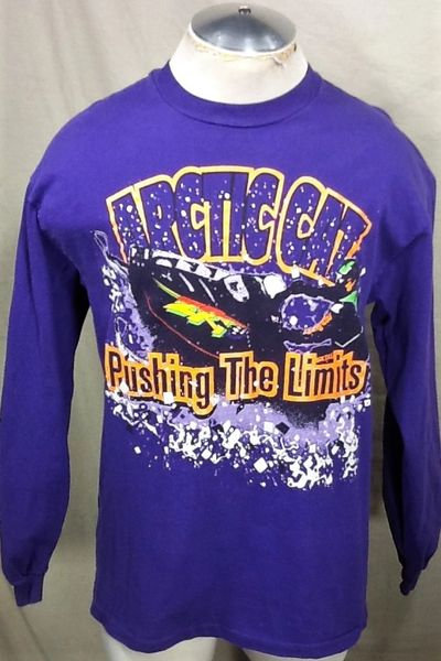 """Vintage Arctic Cat Snowmobiles (Large) """"Pushing The Limits"""" Long Sleeve Graphic T-Shirt"""