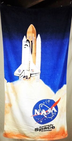 "Nasa Space Shuttle Launch ""Kennedy Space Center"" Beach Towel Wall Art"