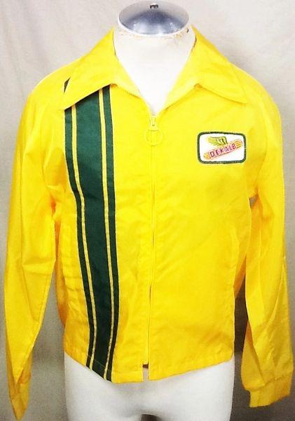 Vintage 70's Swingster Dekalb Seed Company (Medium) Zip Up Light Weight Windbreaker Jacket