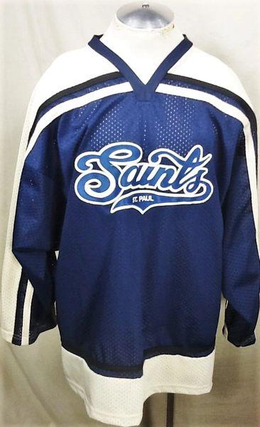 Vintage St. Paul Saints Independent Baseball (XL) Pullover Knit Hockey Jersey