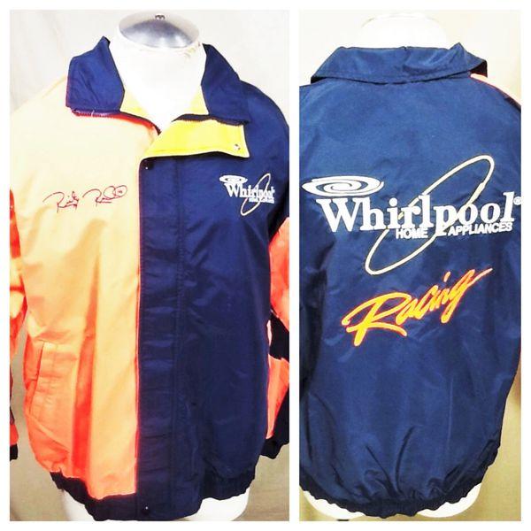 Vintage Ricky Rudd #10 Whirlpool Racing (XL) NASCAR Zip Up Windbreaker Jacket