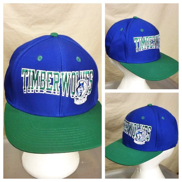 Adidas Hardwood Classics Minnesota Timberwolves Retro Wolves NBA Basketball Snap Back Hat