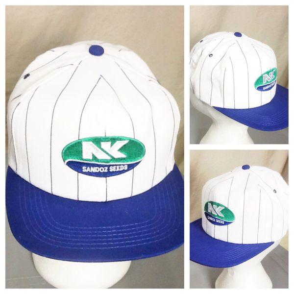 Vintage 90's NK Brand Sandoz Seeds Syngenta Farming Advertising Snap Back Hat
