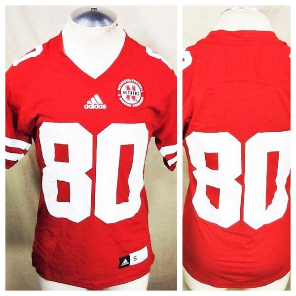 Adidas Nebraska Cornhuskers (Small) Pullover NCAA Football Jersey